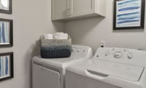 laundry area for residents of apartment