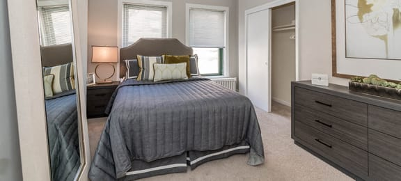 Carpeted Bedrooms at Reside on Wellington, Chicago, IL, 60657