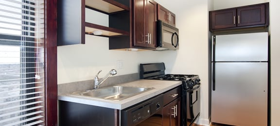 Spacious Kitchen with Pantry Cabinet at Reside at Belmont Harbor, Chicago, IL,60657