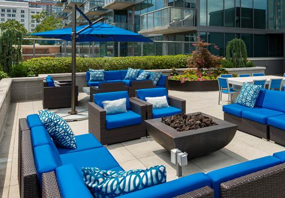 7th Floor Terrace Lounge at Azure on The Park, Atlanta, GA, 30309