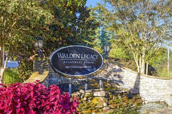 Welcoming Property Signage at Walden Legacy Apartments, Knoxville, TN