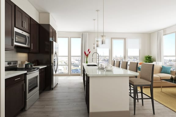 Open Kitchen Design at Azure Houston Apartments, Houston, 77007