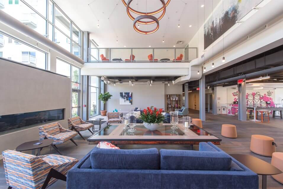 The Foundry Lobby at The Foundry at 41st new Apartments, Lawrenceville 15201