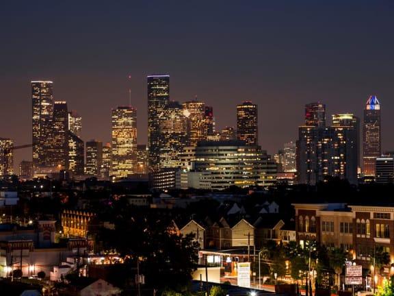 Panoramic View of City at Azure Houston Apartments, Houston, Texas