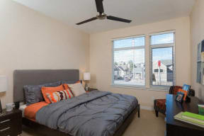 Spacious bedroom floor plan at 2828 Zuni - LoHi Apartments