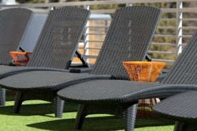 Comfortable lounge chairs at 2828 Zuni - Denver Apartments