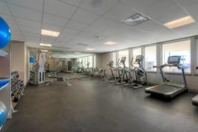 Fitness Center Workout Equipment at 2828 Zuni   Denver