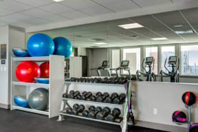 Fitness Center at 2828 Zuni Apartments in Denver