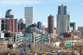 Downtown Denver Skyline - as seen from 2828 Zuni Apartments