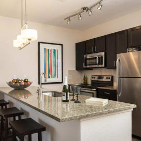 Classy, modern kitchen amenities at 2828 Zuni in LoHi - Denver