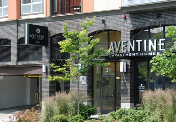 Aventine Apartment Homes Exterior Main Entrance