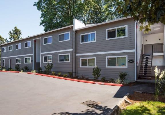 Francis Park Portland OR Building Front Entries Parking Lot