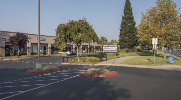 Roseville Business Park Store Fronts and Monument Sign