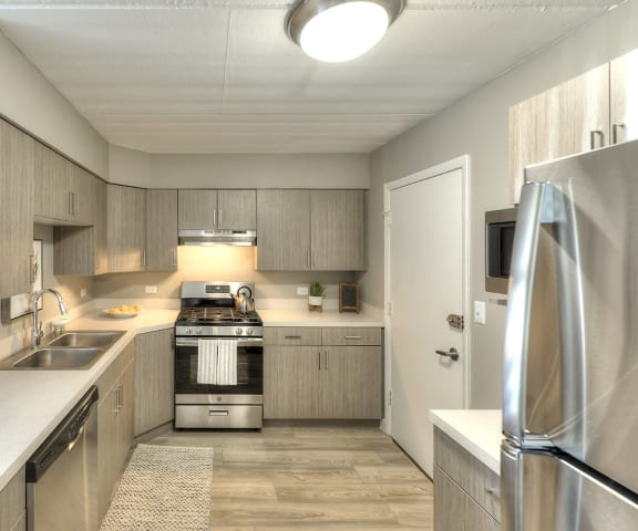 Modern Designed Kitchen at Axis at Westmont, Westmont, IL, 60059