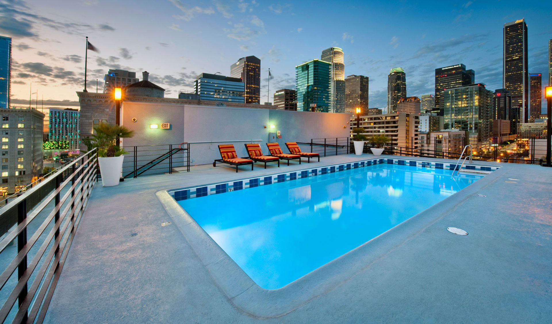 Rooftop Pool at Renaissance Tower, Los Angeles, CA