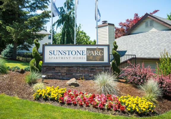 Sunstone Parc Property Entry Monument Sign