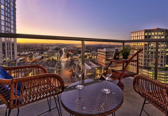 Unwind on your private balcony overlooking downtown Austin, at THE MONARCH BY WINDSOR, 801 West Fifth Street, Austin, TX