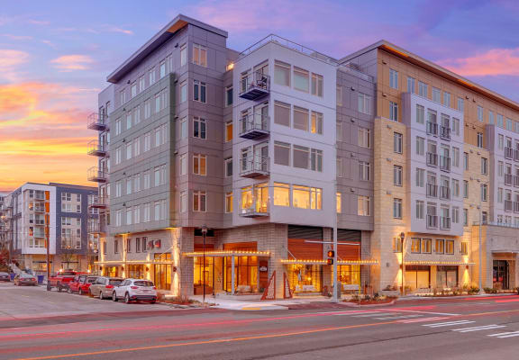 Street view of building at The Whittaker, Seattle, WA