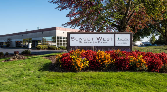 Sunset West Business Park Monument Sign & Landscaping