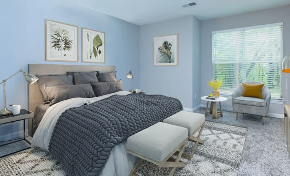 Well Appointed Bedroom at Bridges at Chapel Hill, Carrboro, 27510