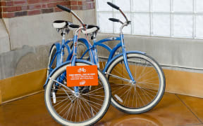See the area on a rented Ovaltine Court bike!