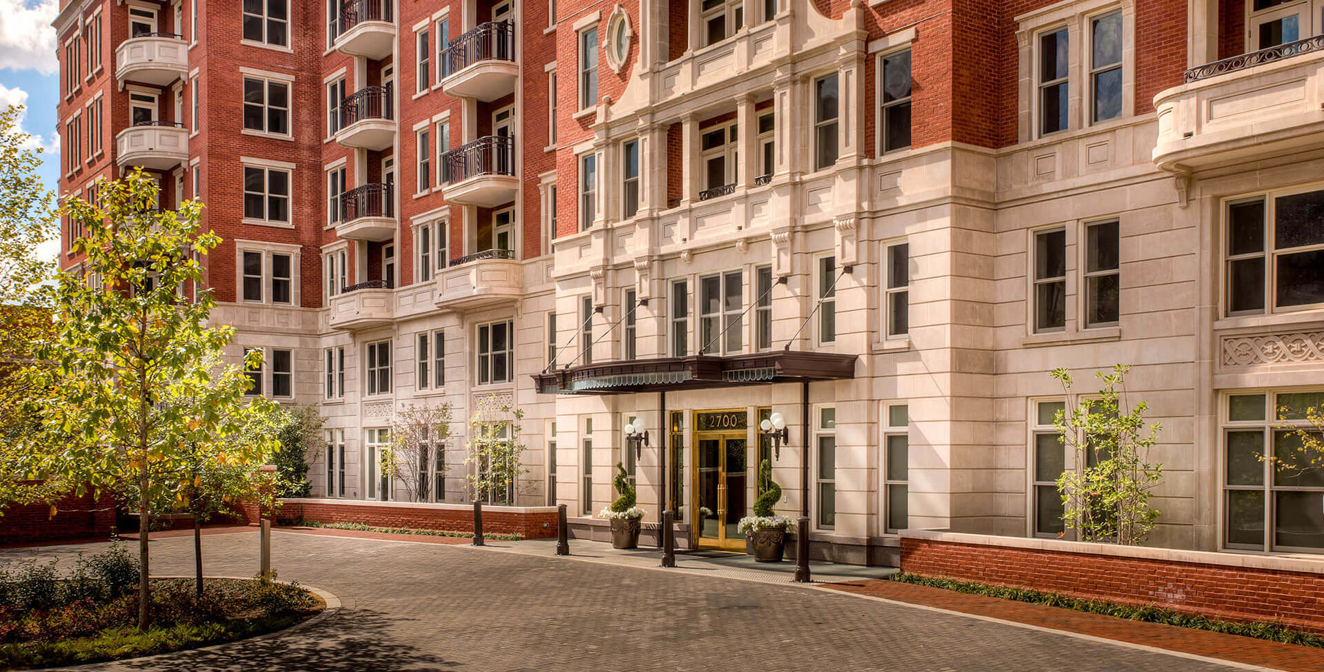 Grand front entrance at The Woodley, Washington, DC