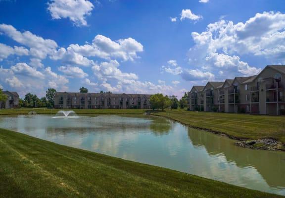 Scenic Pond Views at Dupont Lakes Apartments in Fort Wayne, Indiana