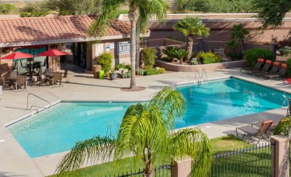 Pool pool patio at Rock Ridge Apartments in Tucson AZ Slider 1