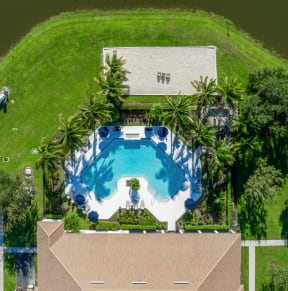 Aerial view of pool  |Cypress Legends