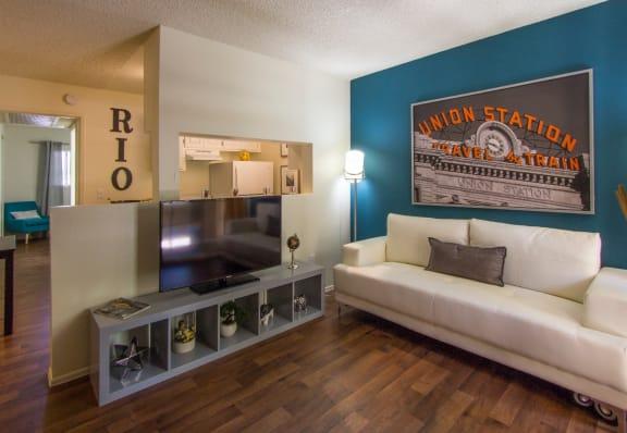 Living room at Zona Rio Apartments in Tucson AZ