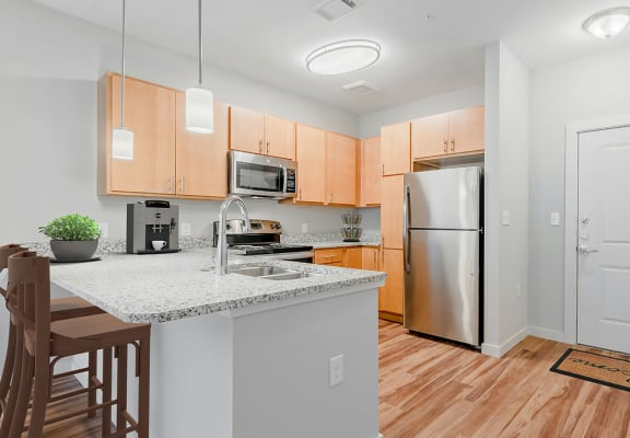 Timbers at Hickory Tree_Staged Apartment Kitchen