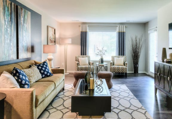 Open-space Living Area at Orion MainStreet, Michigan