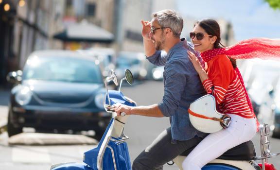 Lifestyle Image - Couple on a Motorbike