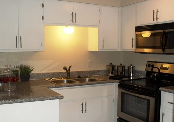 Kitchen at SunVilla Resort Apartments in Mesa, AZ