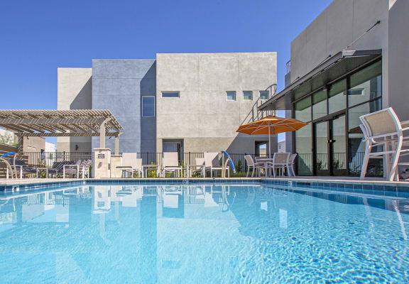 Pool at Senderos at South Mountain in Phoenix AZ September 2020