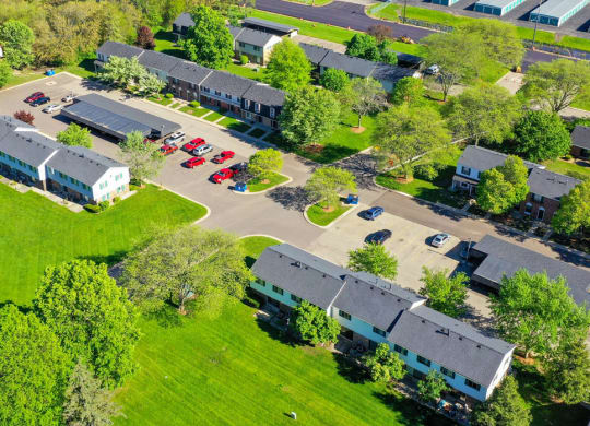 Aerial View of Mount Royal Townhomes, MI, 49009