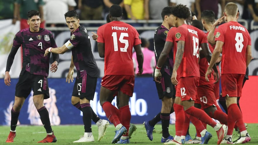 Mexico, Canada players fight during Gold Cup semi   Yardbarker