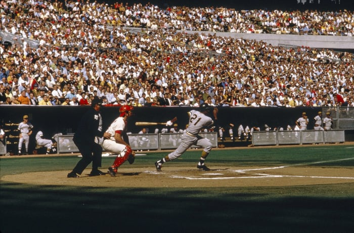 The Pirates move from Forbes Field to Three Rivers Stadium