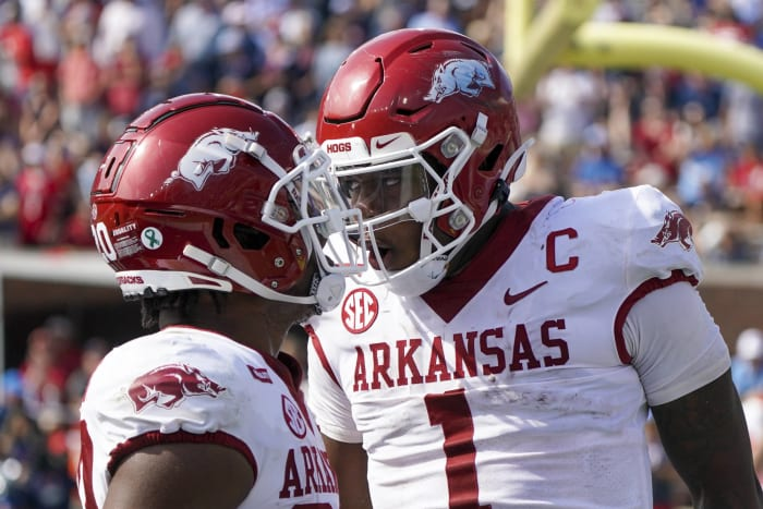 Auburn (4-2, 1-1 in SEC) at No. 17 Arkansas (4-2, 1-2 in SEC), Noon, Saturday, CBS