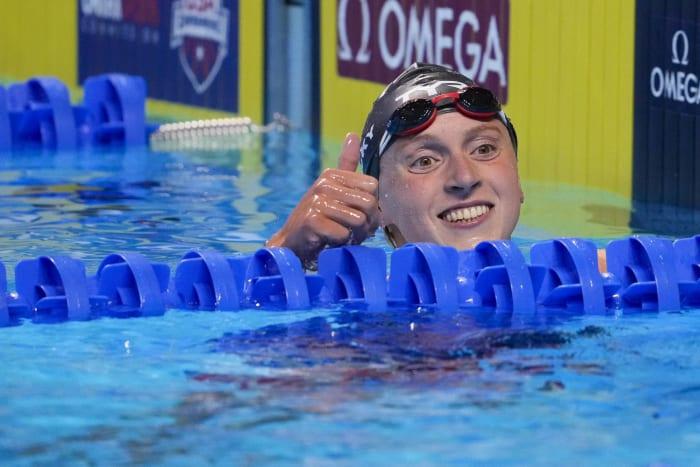 Women's swimming 200-, 400- and 800-meters: Katie Ledecky (USA) vs. Ariarne Titmus (Australia)