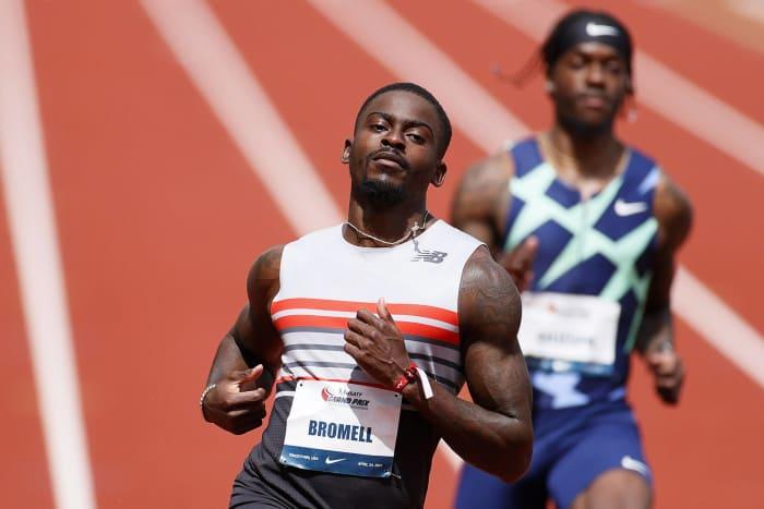 Men's 100 meters: Trayvon Bromell (USA) vs. Ronnie Baker (USA) vs. Akani Simbine (South Africa) vs. Andre De Grasse (Canada)