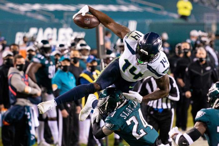 Subheading wide receiver: DK Metcalf, Seahawks
