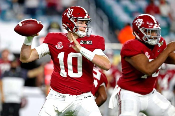 No. 15   Patriots: Alabama QB Mac Jones