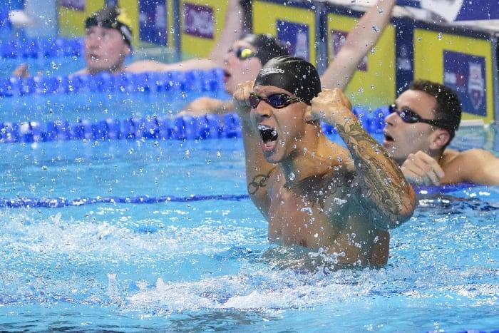 Men's men's 4x100 medley relay: United States vs. Great Britain