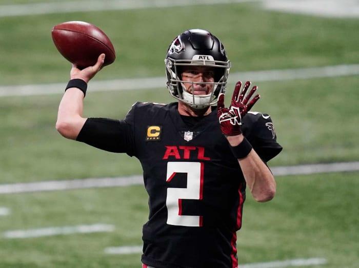 Atlanta Falcons: OG, RB, DE, LB, DB