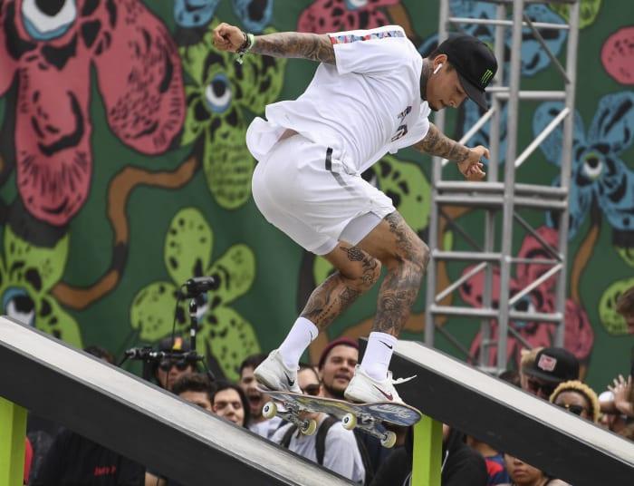 Men's skateboarding: Nyjah Huston (United States) vs. Yuto Horigome (Japan)