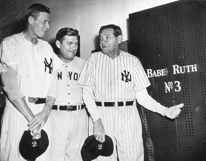 The Babe visits Yankee Stadium one last time