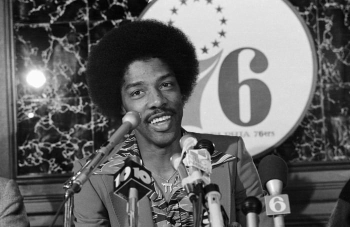 1977: Dr. J holds office hours