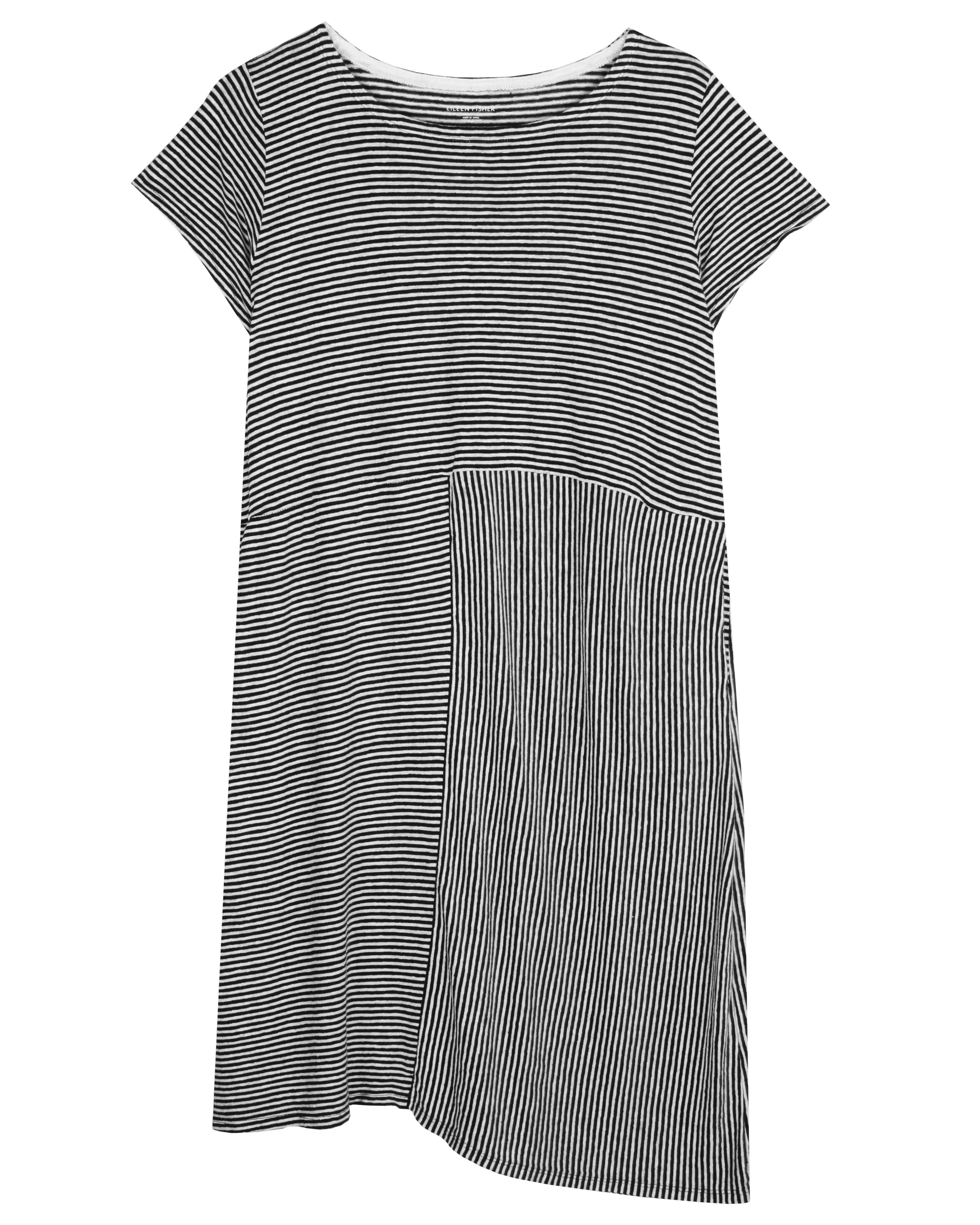 70e9dce988 Used Organic Linen Jersey Stripe Dress Print pattern