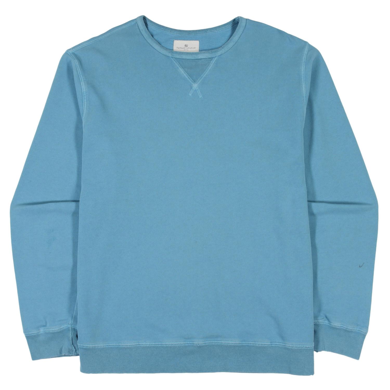Vintage - Blue Agave Cotton & Linen Terry Crewneck